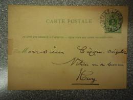 CARTE POSTALE VERS HUY 1883 - PROVENANT DE FONTAINE L EVEQUE - Huy