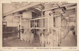 MARSEILLE ... ETS VERMINCK ... USINE DE SAINTE CROIX .... HUILE SAVON .... SALLE DES APPAREILS DE DESODORISATION - Marseille