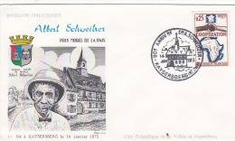 Lettre Avec Cachet  Kaysersberg : Albert Schweitzer, Prix Nobel