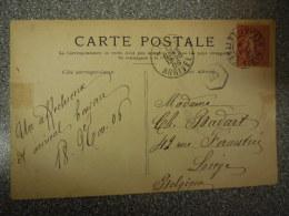 CARTE POSTALE / FRANCE PARIS  VERS LIEGE  // 1920 // FALLIERES PRESIDENT DE LA REPUBLIQUE - Unclassified