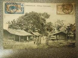 CARTE POSTALE VILLAGE  DE LIBREVILLE // VERS BOMA CONGO BELGE // 1911 - Gabon