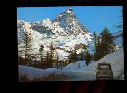 CERVINIA Valle D'Aosta  Mont Cervin ( Auto FIAT 500 Giardiniera ) - Italia