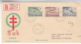 Poissons - Finlande - Lettre Recommandée  De 1955 - Finlandia