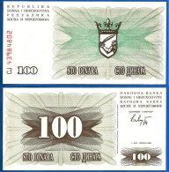 Bosnie Herzegovine 100 Dinars 1992 Neuf Ex Yougoslavie Bosnia Herzegovina 100 Dinara 1992 UNC Paypal Skrill OK - Bosnia And Herzegovina