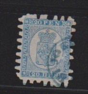 FINLANDE // N 8 // 20 FEN // BLEU AZURE // COTE 90€ - 1856-1917 Russian Government