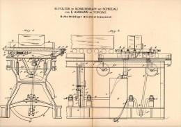 Original Patentschrift - H. Polter In Schilderhain B. Schildau ,1890, Abschneideapparat , E. Assmann I. Torgau , Belgern - Maschinen