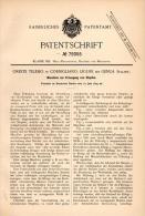Original Patentschrift -  O. Telesio In Cornigliano , Ligure , 1894 , Macchina Per Tappi Di Sughero  !!! - Macchine
