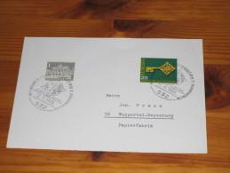 Werbe Karte Germany Bund Sonderstempel 1968 532 Bad Godesberg 3. Europäische Weltraumkonferenz Space  Europe Erde Earth - Machine Stamps (ATM)