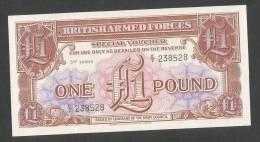 UNITED KINGDOM - BRITISH ARMED FORCES - 1 POUND (third Series E2) - Autorità Militare Britannica