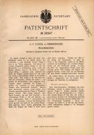 Original Patentschrift -  G.F. Funck In Hedelfingen B. Stuttgart , 1886 , Dreschmaschine , Landwirtschaft !!! - Maschinen