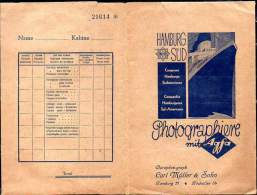 Folder For Photographs Delivered On Ships Of Hamburg Süd Company, Ca 1940 - Photography