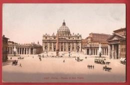 BIT-08 Roma Piazza E Basilica Di San Pietro. Calèches. Non Circulé - Vatican