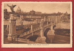 BIT-28 Roma  Ponte Vittorio Emmanuele II . Ange. Non Circulé - Ponti