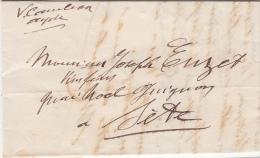 1944, Lettre De AGDE HERAULT Pour SETE, VICTOR CAMBON BORDEREAU DE VINS  /4596 - Covers & Documents