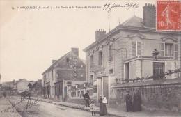 MARCOUSSIS  La Poste Et La Route De Versailles  - Animée  - - Frankreich