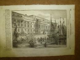 8 Mai 1834 MAGASIN UNIVERSEL :Douanes De LONDRES;Quakers; Culte De JAGGANTHA à Porée ; Le Grand-Châtelet; Cuirassiers - Zeitungen
