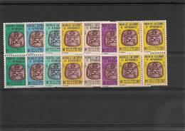 NOUVELLE CALÉDONIE Années 1983/84 Timbres De Service  Blocs De 4 N°Y/T 35/41** - Dienstpost