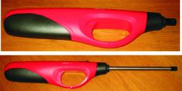 Briquet Géant  CHAMP Rechargeable 42.5/11 Cm Plastique Rouge Et Noir - Feuerzeuge