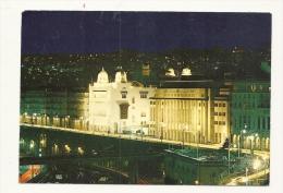 Cp, Algérie, Alger Illuminée, L'Hôtel De Ville Et La Préfecture, Voyagée 1971 - Alger