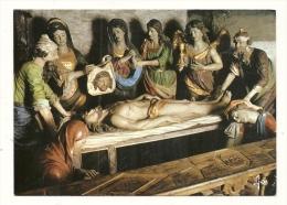 Cp, Christianisme, Saint-Théghonnec - Le SAint-Sépulcre - Tableaux, Vitraux Et Statues