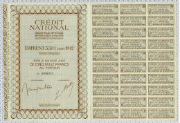 Credit National Emprunt à 3,50% - Banque & Assurance