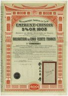 Emprunt Chinois 5% 1903 - Asie