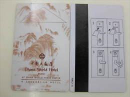 China Hotel Key Card,China World Hotel Beijing At China World Trade Center(A Shangri-la Hotel) - Tarjetas Telefónicas