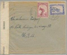 Léopoldville : Lettre Expédiée Vers Chicago (USA) Le 7 Février 1941 Avec Stand-by A Léopoldville Obl 14 Et 18 Février. B - Unclassified