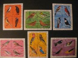 """Burundi 1970 ** MNH Cob 398/421 En Bloc De 4  """" Oiseaux / Birds """"  Cat: 55,00 Euro - 1970-79: Neufs"""
