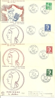 "Frankreich 1958, 4 FDCs Marianne De ""Muller"" - 1950-1959"