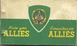 1944 - CONNAISSEZ VOS ALLIES - Plaquette Publiée Par Le G.K.G.en France - Toute Illustrée - Bilingue - Historical Documents
