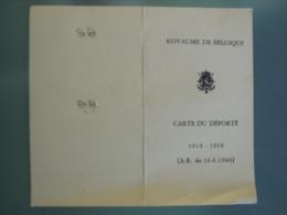 BELGE - BELGIQUE - WW2 - CARTE DES DEPORTES - Documents