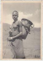 19996g CONGO - BELGE - ETHNOGRAPHIQUE - KIVU - Femme BANYA-BONGO - 15x10.5c - Seins Nus - Congo Belge - Autres