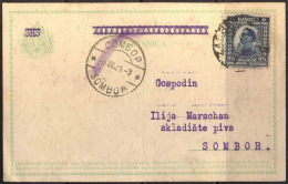 YUGOSLAVIA  -  CROATIA - SHS - HUNGARY - PROVIS. POST CARD Mi.P35  - Edic.BORANIĆ I ROŽMANIŽ ZAGREB - PIVOVARA - 19 - Lettres & Documents