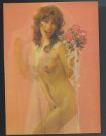 NUDO Stereoscopico SPOSA Cartolina Numero 3  Formato Grande Non Viaggiata - Stereoscopic Views