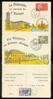 Strasbourg Conseil De L´ Europe 1962 1ere Exposition Philatélique Franco-Allemande à Baden Baden - Lettres & Documents