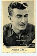 Louison BOBET - Champion De France 1951 - Apéritif Saint Raphaël - 2 Scans - Ciclismo