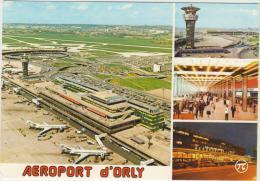Aeroport De Paris Orly Vue Aerienne Des Aerogares Sud Et Ouest Tour De Controle Hall Et Facade De L Aerogare Orly Sud - Aerodrome