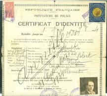 Timbre Nansen 5 Franc Or De 1934 Sur PASSEPORT  Pour Apatrides + DIVERS FISCAUX - Ensemble Très Rare - Lr126 - Documenti Storici
