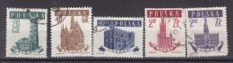 POLOGNE - N°Y&T - 923/7 - Série Complete De 5 Valeurs - Hotels De Ville - Tous Oblitérés - 1944-.... République