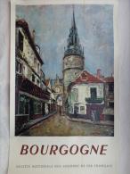 AFFICHE ANCIENNE ORIGINALE- SNCF- CHEMINS DE FER-BOURGOGNE- ILLUSTRATEUR H.DE WARQUIER 1949