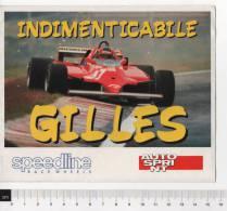 Ade027 Figurine, Adesivi, Stickers, Autocollant | Gilles Villeneuve, Auto Ferrari | Indimenticabile Pilota, Pilot F1 - Adesivi