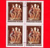 UNGHERIA - MAGYAR - 1980 - Scrigno Di Pasqua Di Garamszentbenedek - Tre Marie - 2 - Quartina - Hungary
