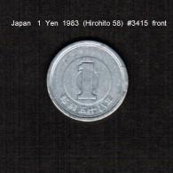 JAPAN    1  YEN   1983  (HIROHITO 58---SHOWA PERIOD)  (Y # 74) - Japan