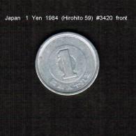 JAPAN    1  YEN   1984  (HIROHITO 59---SHOWA PERIOD)  (Y # 74) - Japan