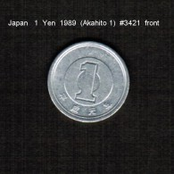 JAPAN    1  YEN   1989  (AKIHITO 1---HEISEI PERIOD)  (Y # 95.1) - Japan