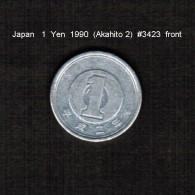 JAPAN    1  YEN   1990  (AKIHITO 2---HEISEI PERIOD)  (Y # 95.2) - Japan