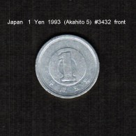 JAPAN    1  YEN   1993  (AKIHITO 5-HEISEI PERIOD)  (Y # 95.2) - Japan