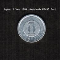 JAPAN    1  YEN   1994  (AKIHITO 6-HEISEI PERIOD)  (Y # 95.2) - Japan