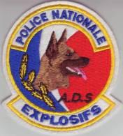 Ecusson Police Nationale   EXPLOSIFS  A.D.S - Police & Gendarmerie